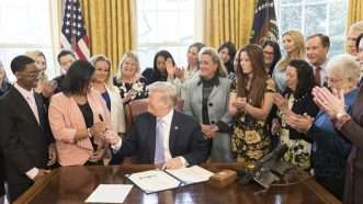 Trump signing FOSTA | April 2018