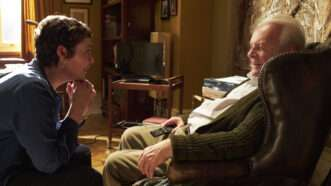 1. Olivia Colman as Anne, Anthony Hopkins as Anthony in THE FATHER. Photo by Sean Gleason. Courtesy of Sony Pictures Classics