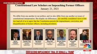 House Impeachment Presentation 4—February 2021