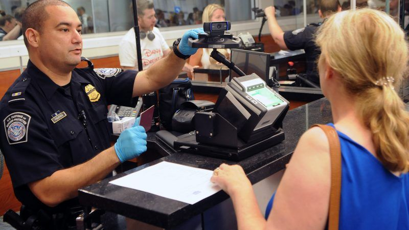 Hackers have stolen photos of travelers taken by the USA  border agency