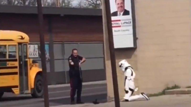 Stormtrooper arrest