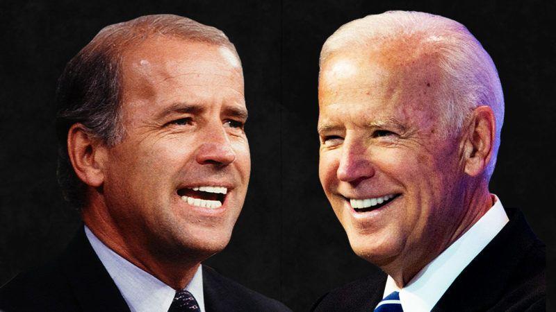 Joe Biden then and now
