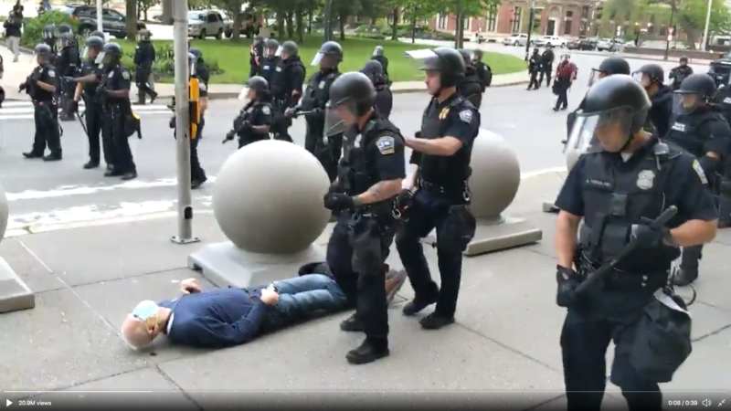 New York Grand Jury Dismisses Charges Against Two Buffalo Police Officers Who Knocked Down 75-Year-Old Protester Last Year