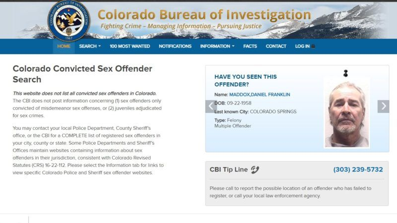 CO-sex-offender-registry