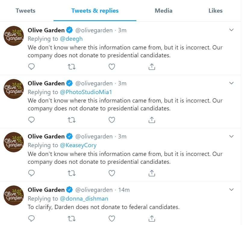 olive garden donation request