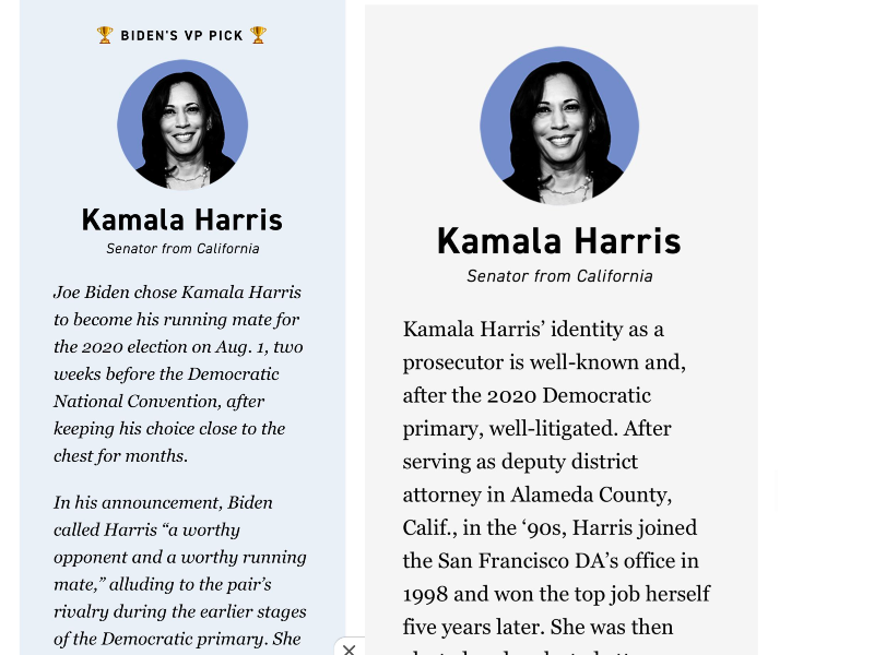 Kamala Harris For Vice President A Disappeared Article Fuels Speculation Reason Com