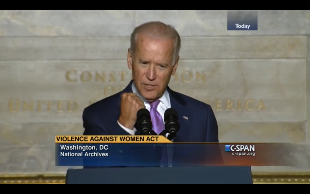 Biden talks about VAWA at National Archives in 2014