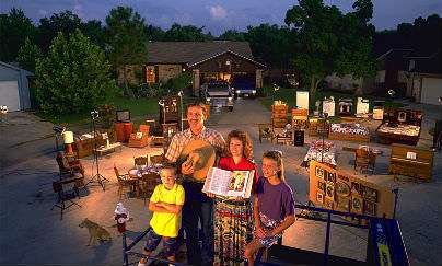 Living in a material world: The Skeens of Texas show off all their stuff
