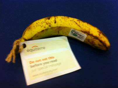 This banana was certified in Rio.