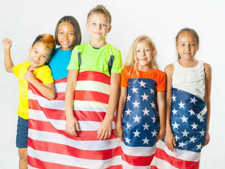 MultiracialKidsFlagPavelIlyukhinDreamstime