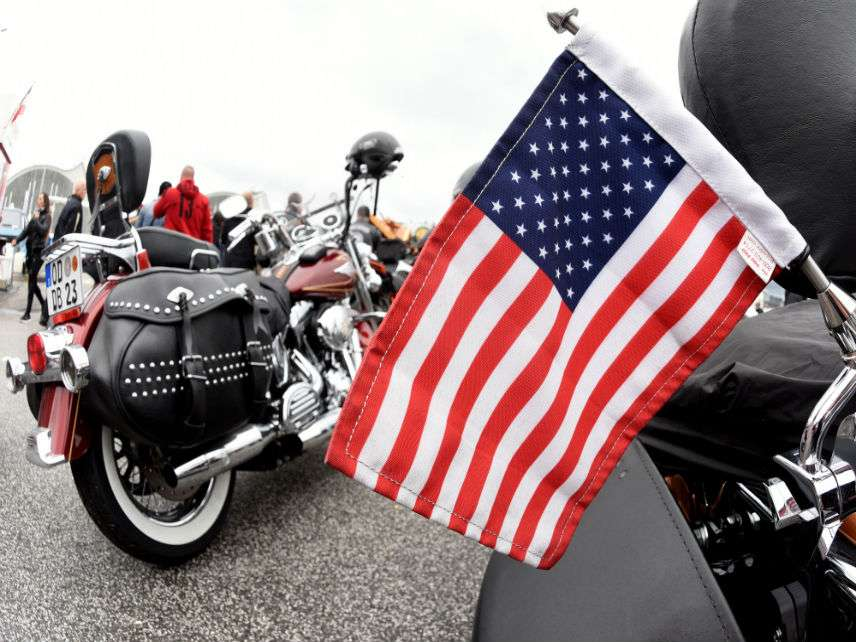 Flag Motorcycle