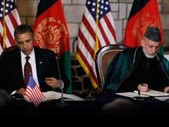 Obama and Karzai sign partnership agreement