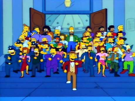 It's just like this, but only only the mayor and the monorail guy is singing.