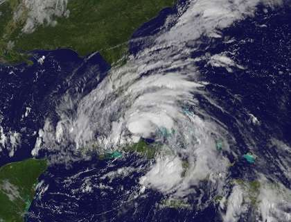 Tropical Storm Issac.