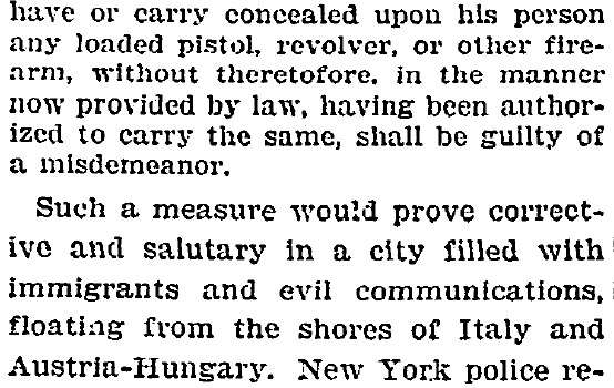 Times anti-gun editorial from 1905