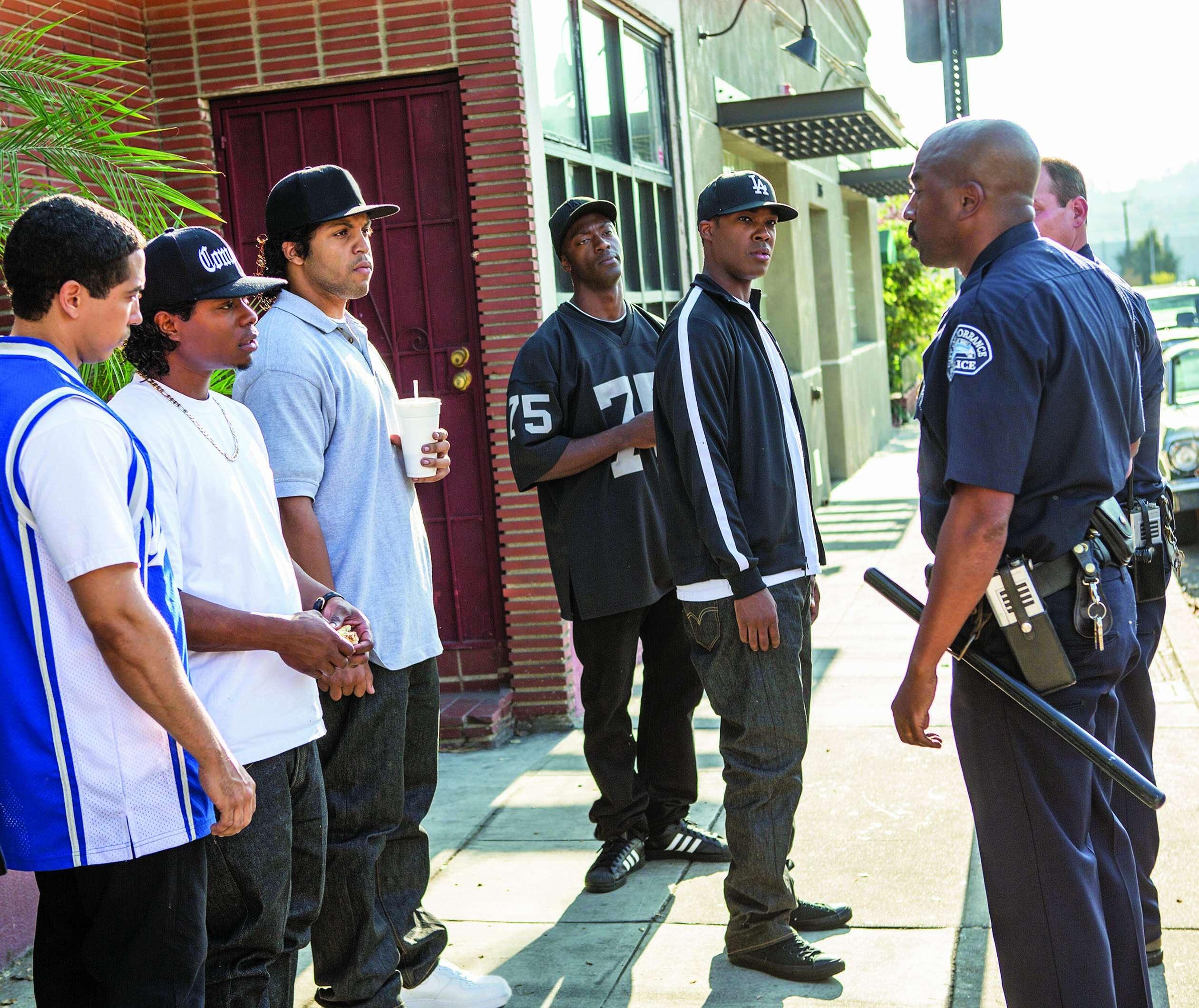 A scene from Straight Outta Compton