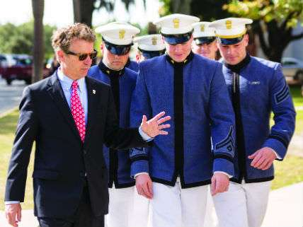 Rand Paul with Citadel cadets in Charleston, 2013