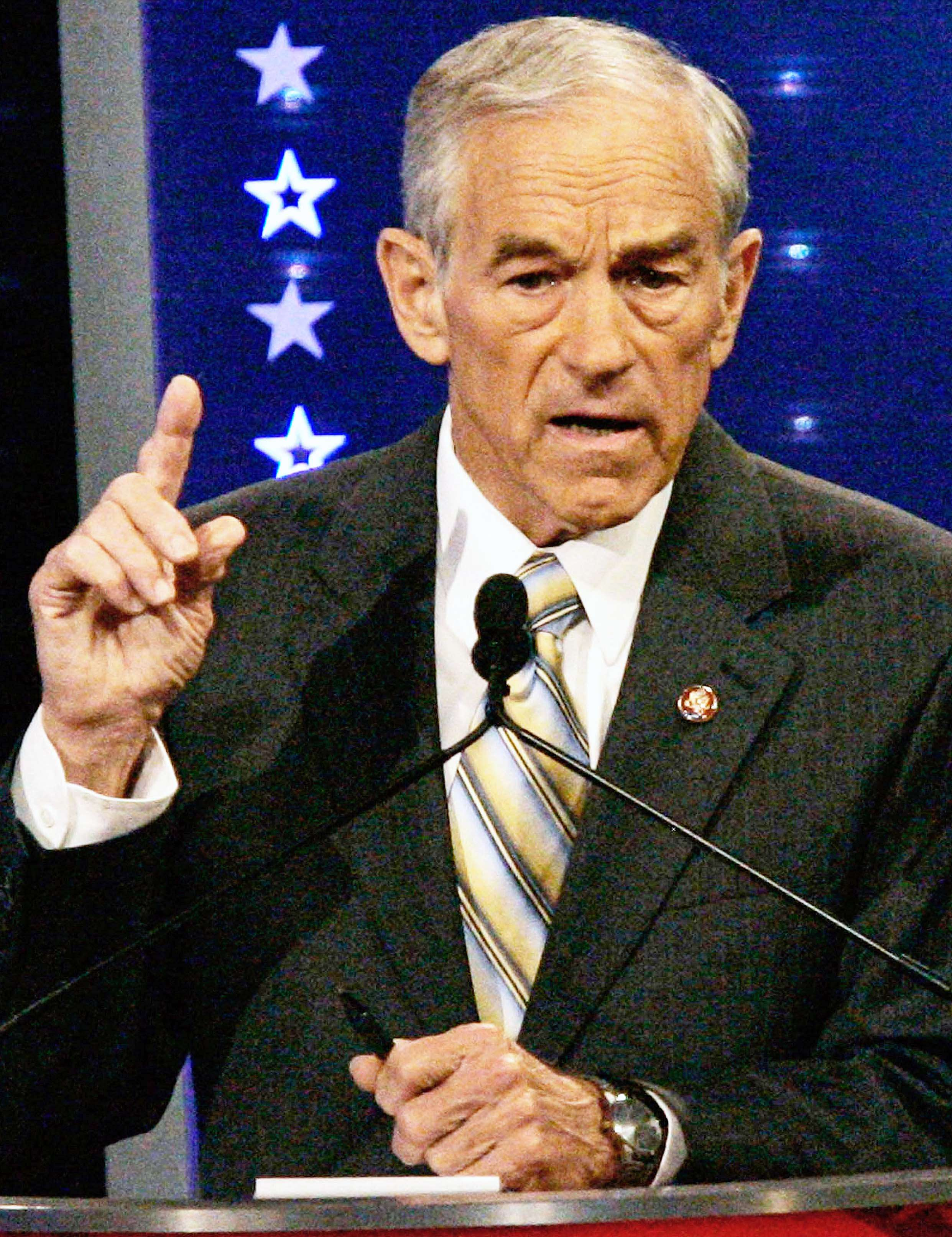 Ron Paul at a primary debate in 2007.