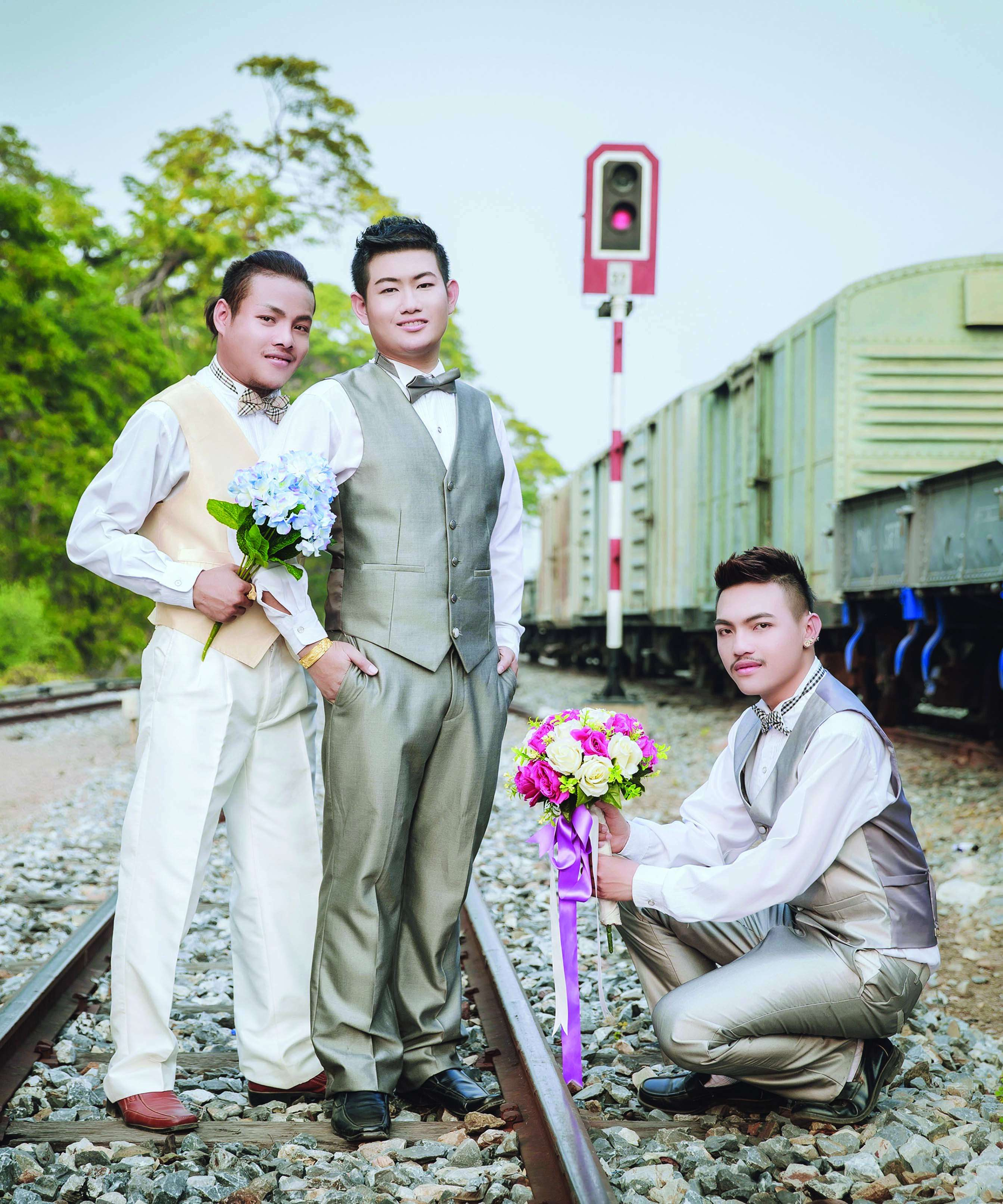 Three gay men marry in Thailand