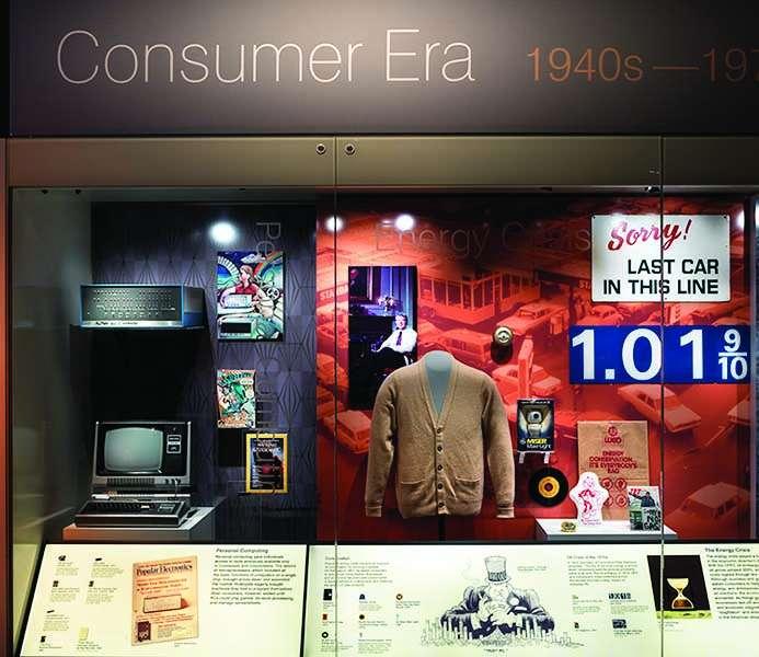 The consumer era exhibit at the Smithsonian