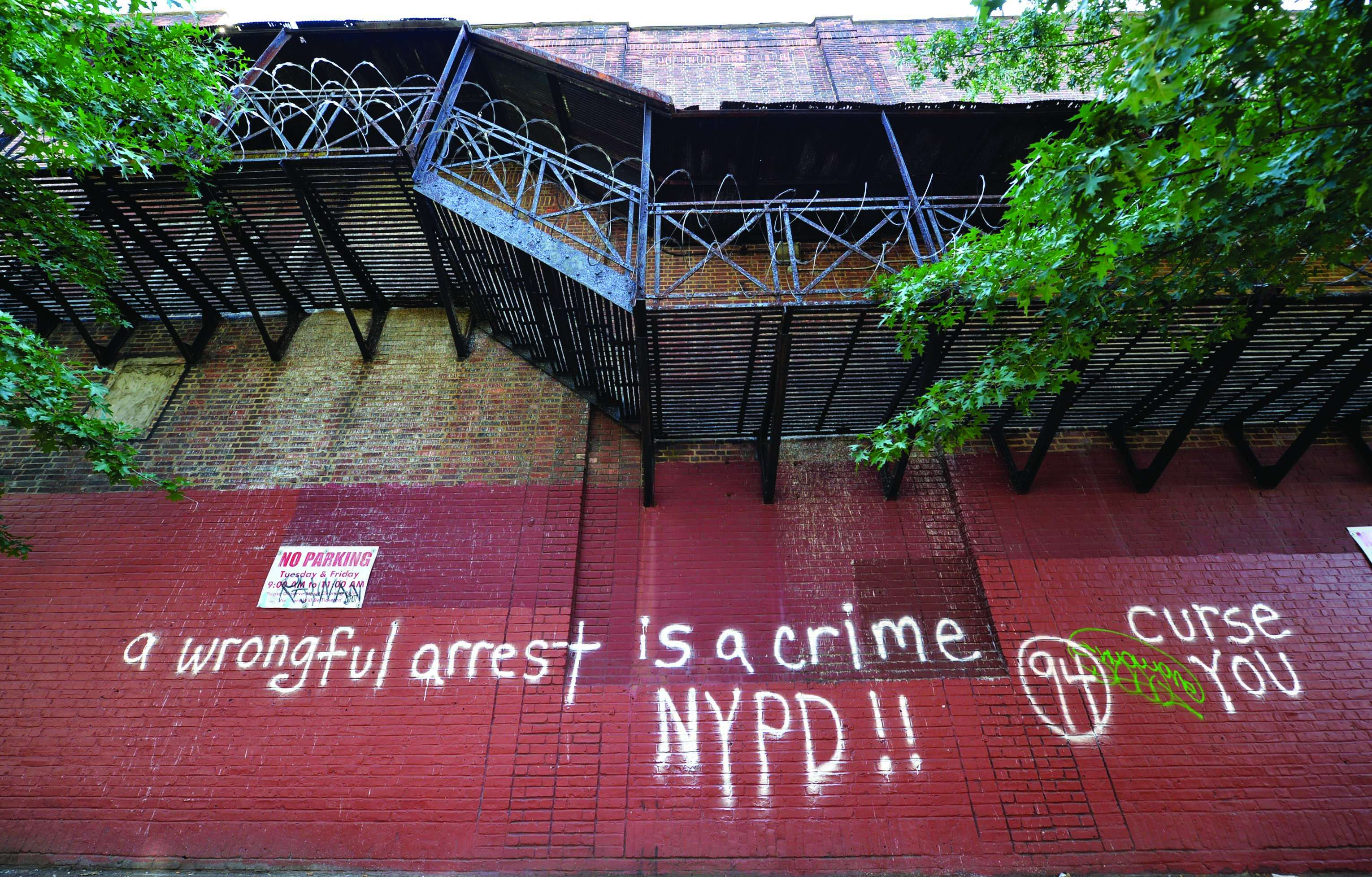 NYPD's Hate Crime task force investigates graffiti as a possible hate crime, August 2014