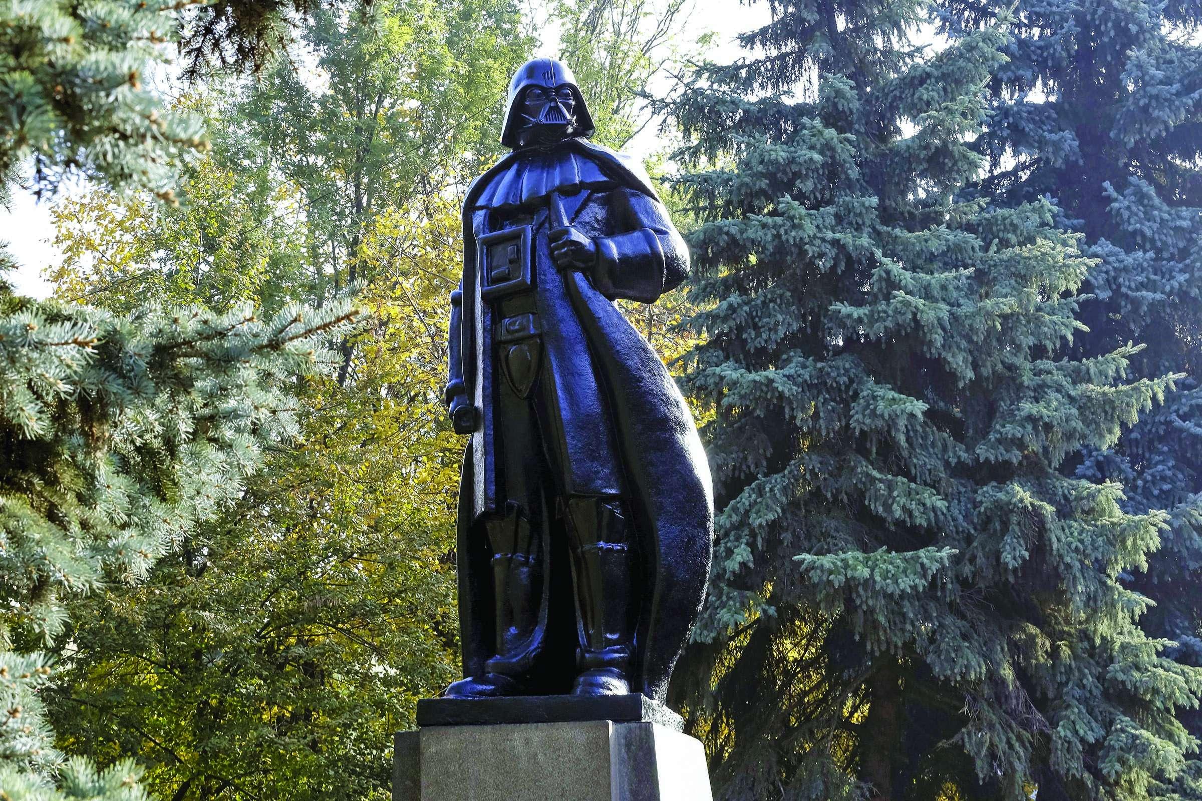 Vladimir Lenin statue as Darth Vader, Odessa, Ukraine