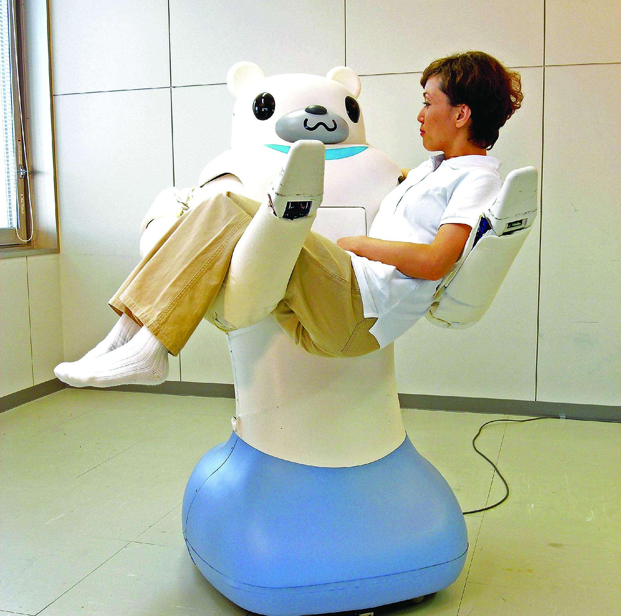 A robot nurse.