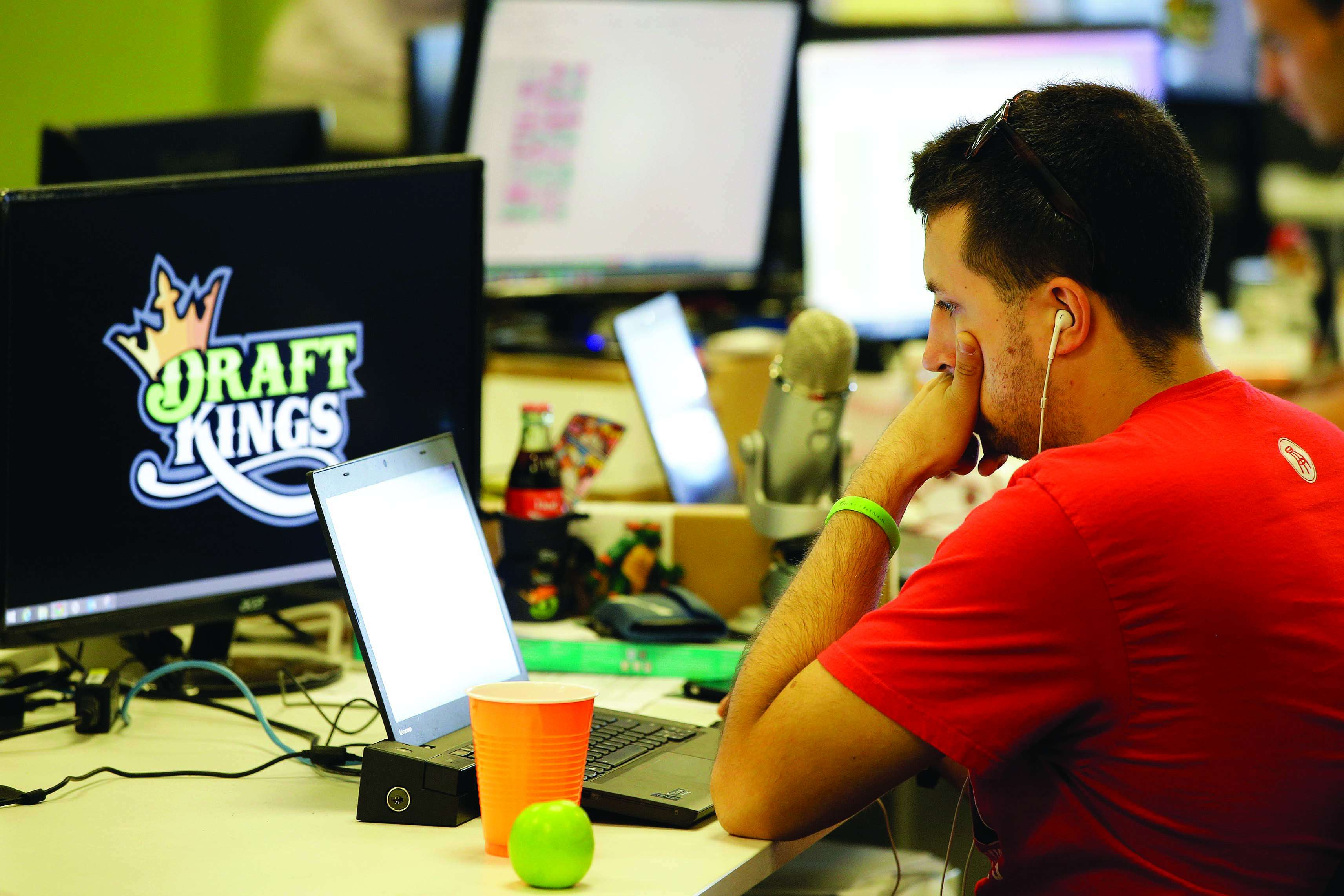 A DraftKings employee