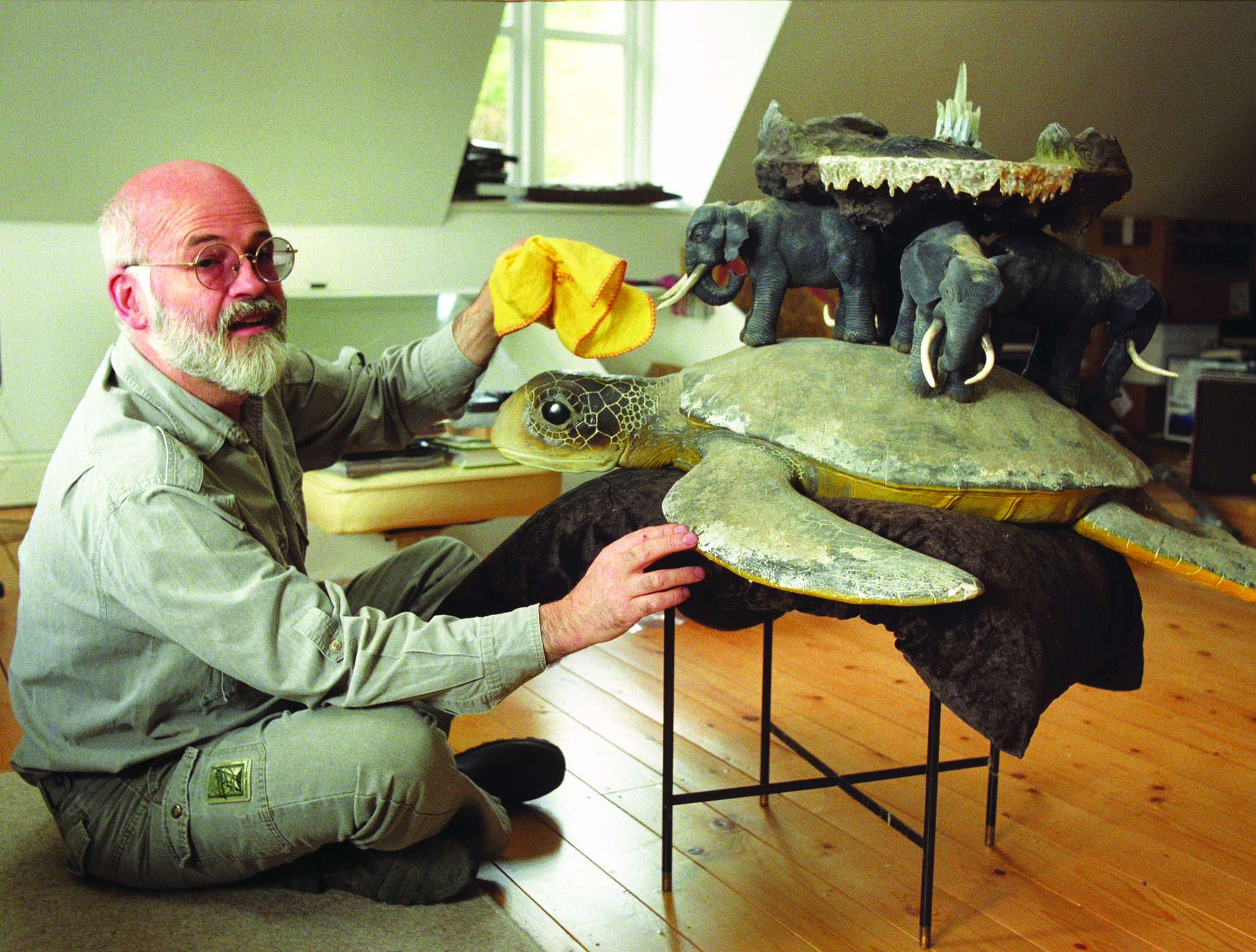 Terry Pratchett in his London home, 1997
