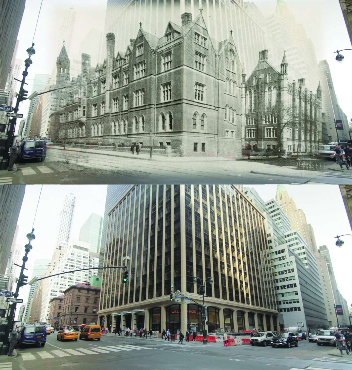 Columbia University's campus once bordered the corner of 49th Street and Madison Avenue
