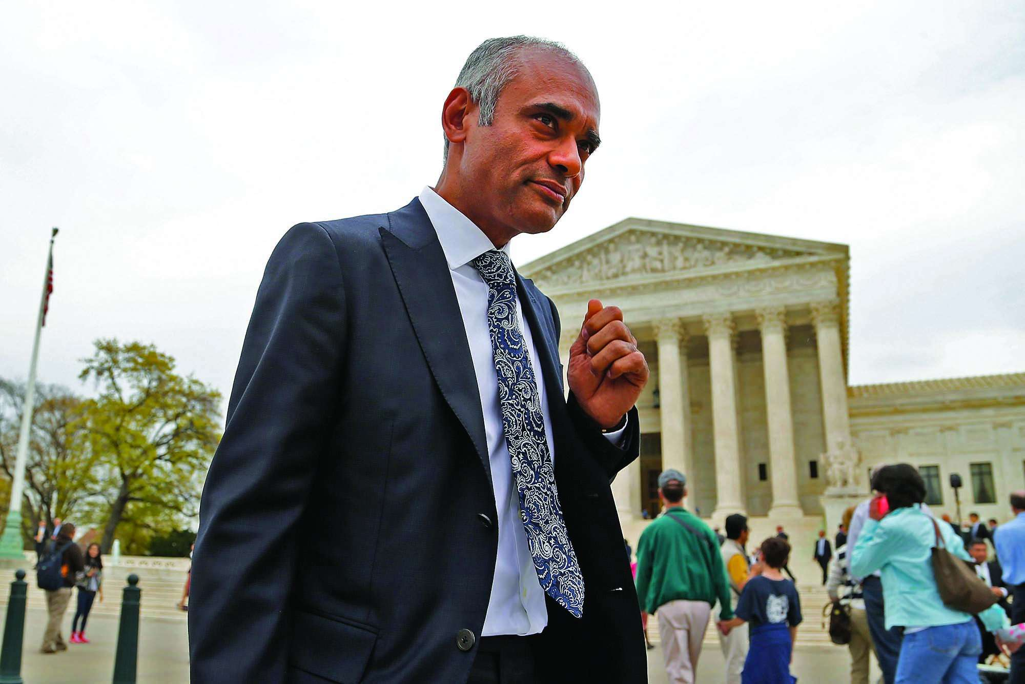 Chet Kanojia, CEO of Aereo, outside the Supreme Court.
