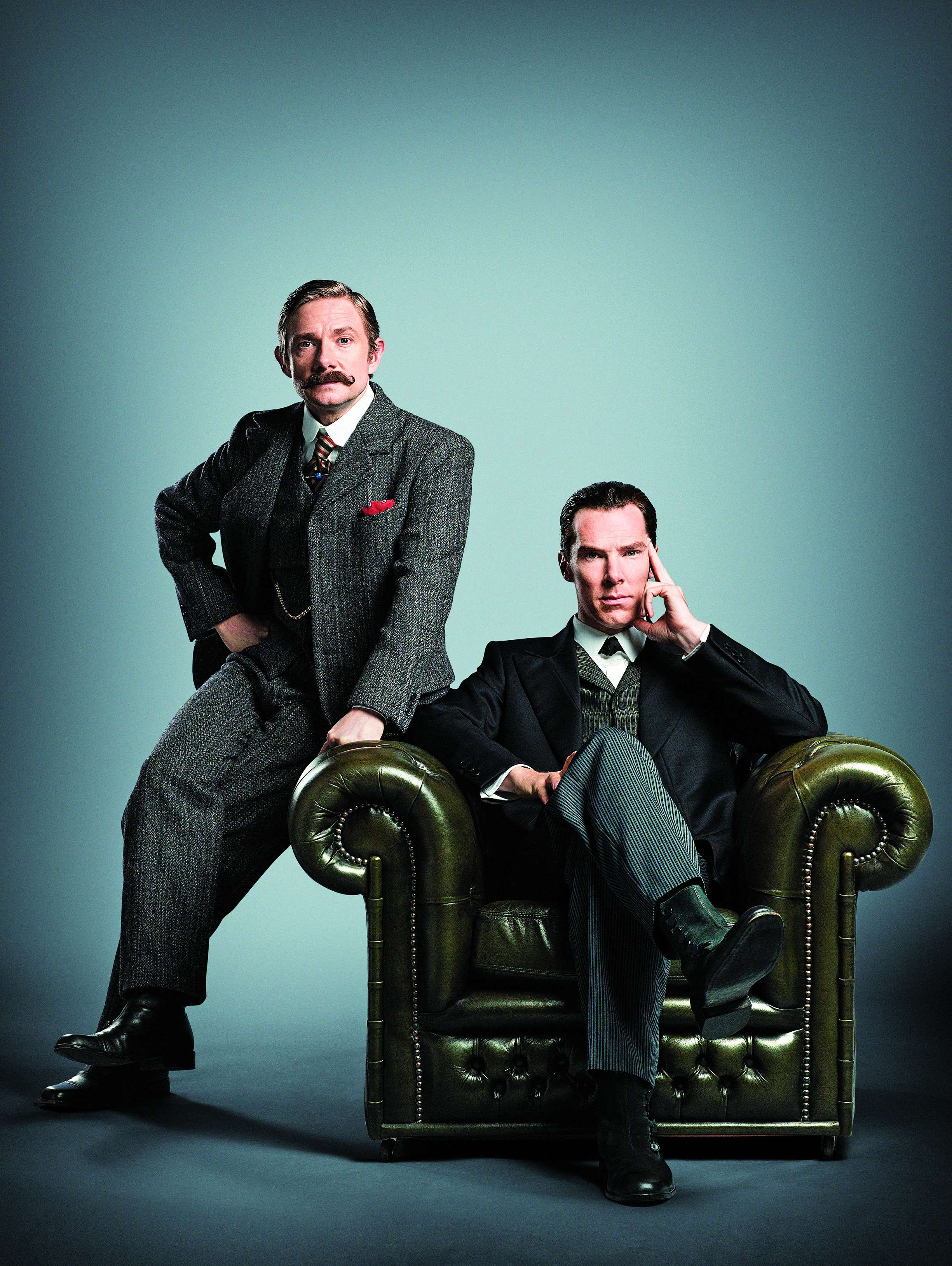 Benedict Cumberbatch and Martin Freeman in the upcoming Sherlock special