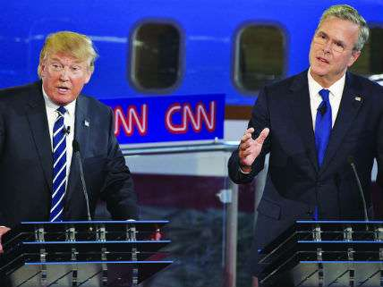 Trump and Bush at the CNN debate