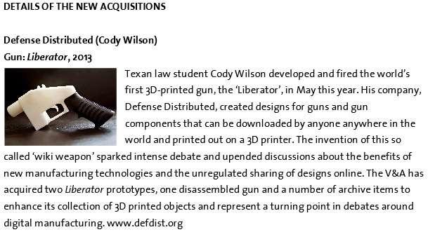 3D-printed Liberator handgun