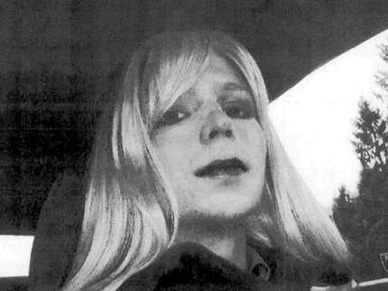 A picture of then-Bradley Manning dressed as a woman used as evidence during trial.