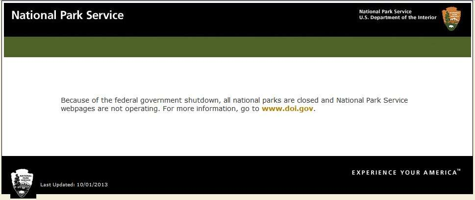 National Park Service shutdown