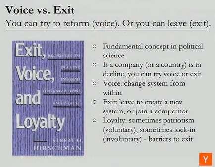 Voice vs. Exit