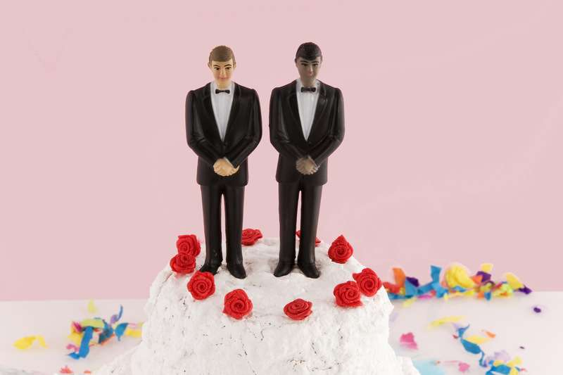 But what about an interracial gay wedding cake?