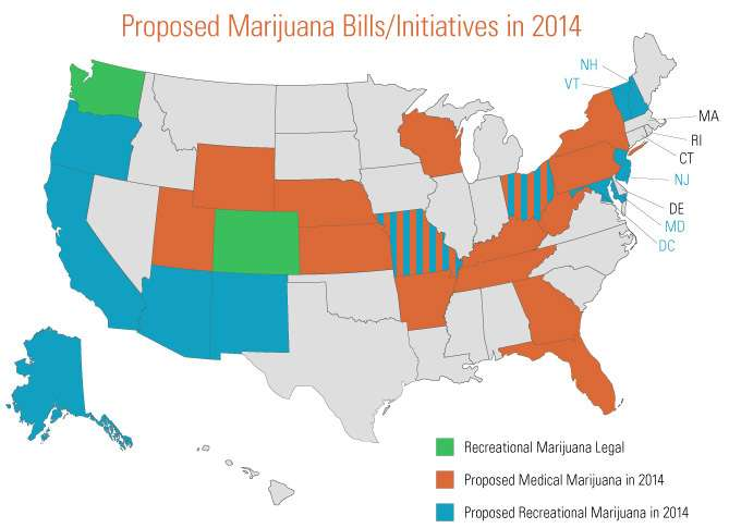 Proposed marijuana bills and initiatives