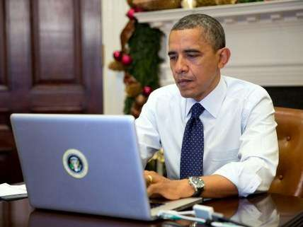 Obama on the computer