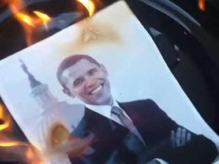 Obama burning