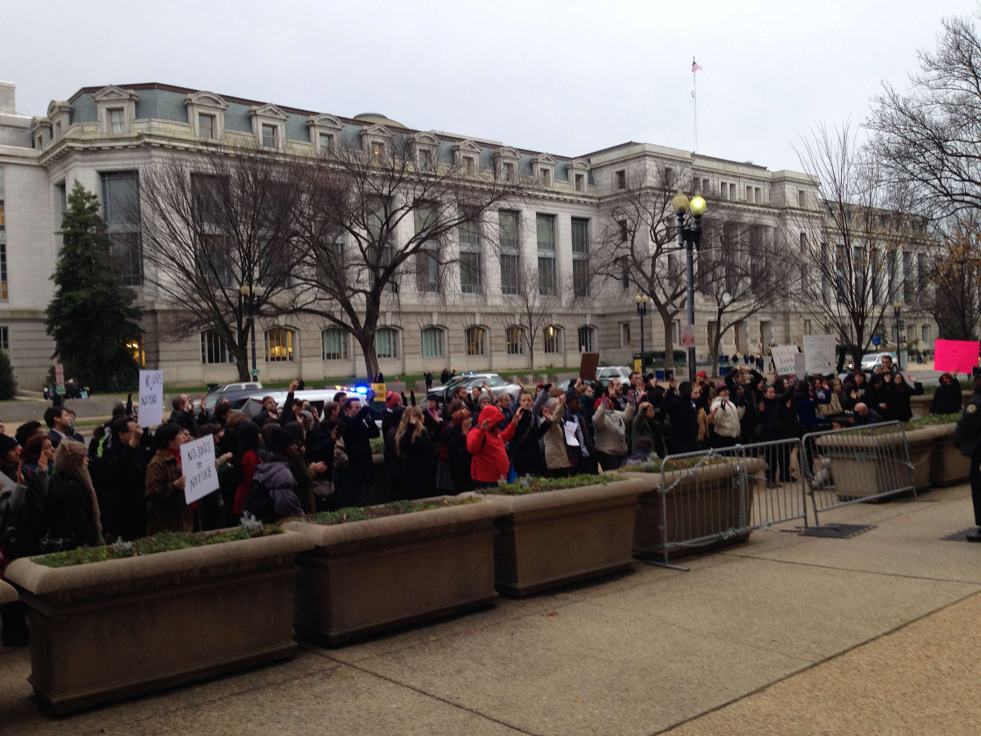 #DCFerguson protesters at the Department of Justice.