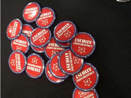 American Atheists buttons at CPAC