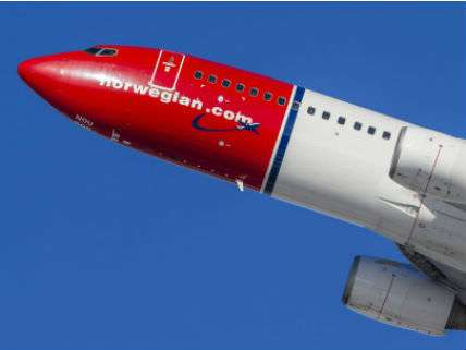 A Norwegian branded airplane