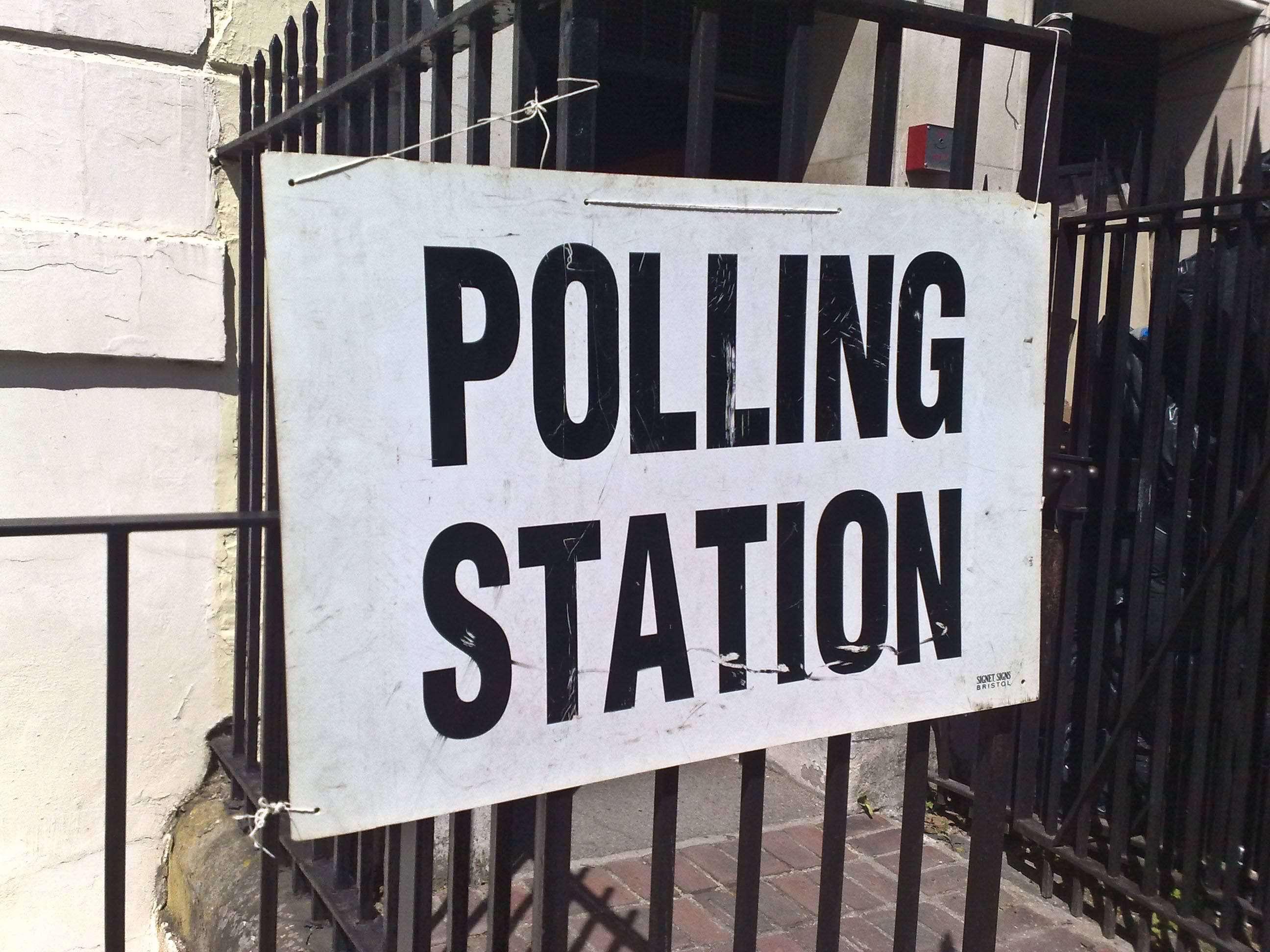 U.K. polling station