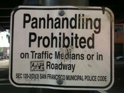 Panhandling Prohibited Sign