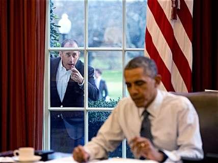 Celebs beg outside the Oval Office.