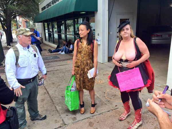 Open carry protesters at SXSW 2016