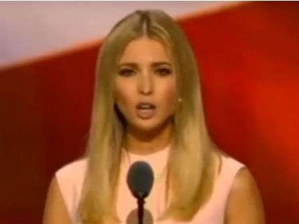 Ivanka Trump addressing the Republican National Convention.