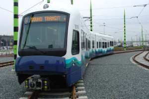 A Sound Transit light rail car
